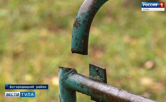 На детских площадках в Богородицком районе выявлены нарушения