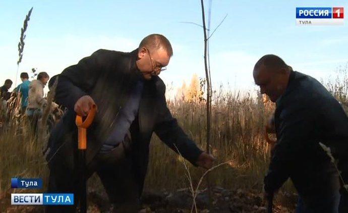 Возле бывшей Судаковской свалки высадили деревья