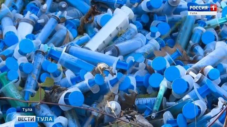Свалку опасных медицинских отходов в Большой Туле убрали