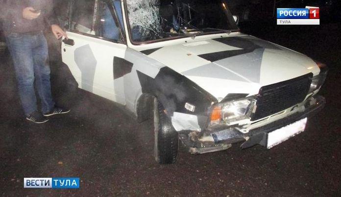 В Тульской области водитель не заметил пешехода в темноте