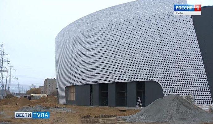 Строители: Ледовый дворец в Туле готов на 65%