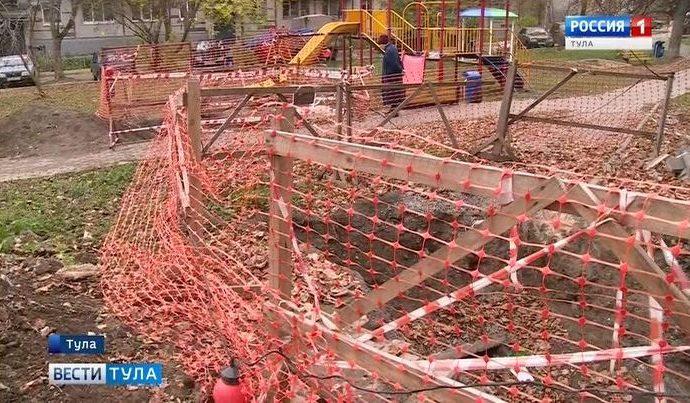 На улице Калинина в Туле отопительный сезон более 10 лет начинается с разрытий