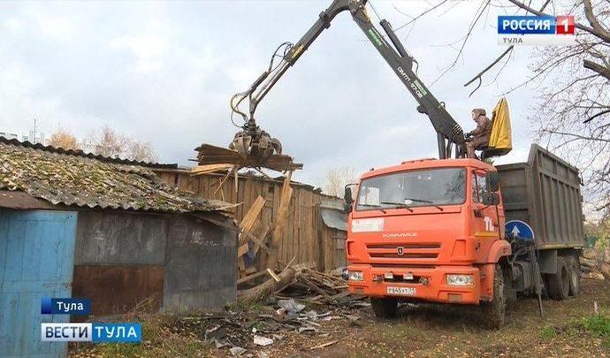 Ревитализация: В Туле начали сносить бесхозные постройки