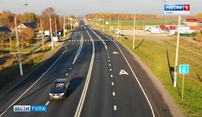 На трассах в Тульской области уложили тонкослойное покрытие