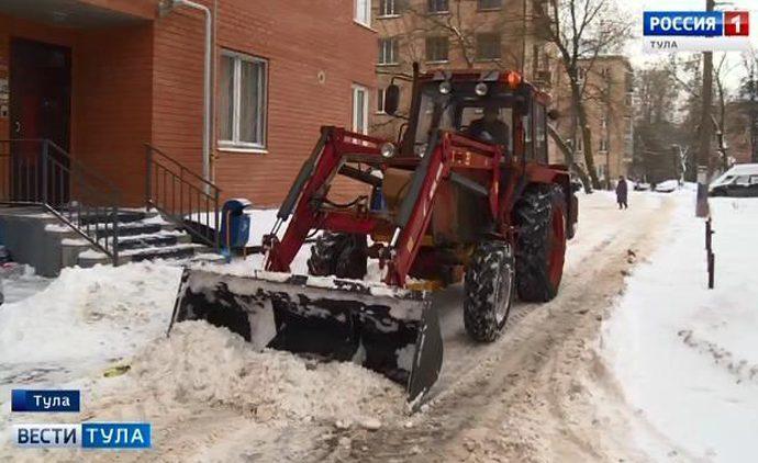 Тульские УК оштрафуют за несвоевременную уборку снега
