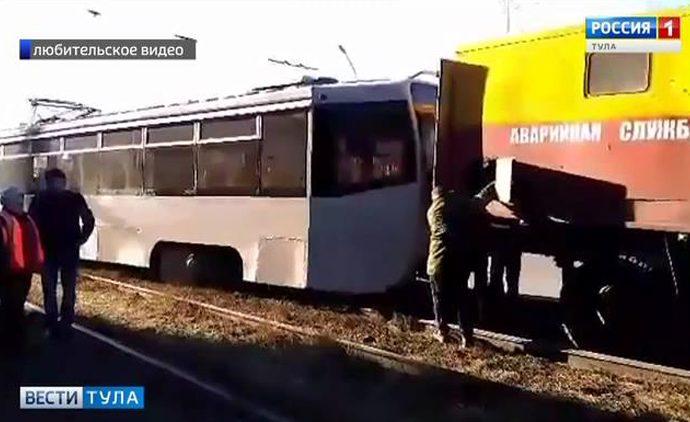 В Туле произошло ДТП с участием трамвая