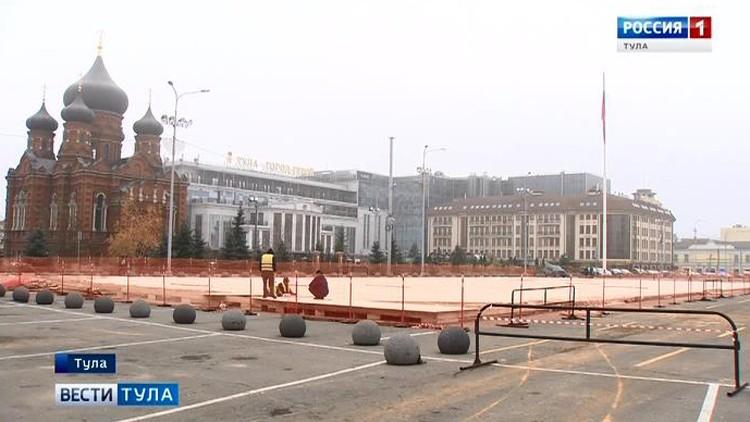 Туляки смогут поиграть в хоккей на главной площади города