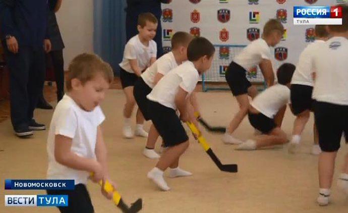 Новомосковских дошколят научат играть в хоккей