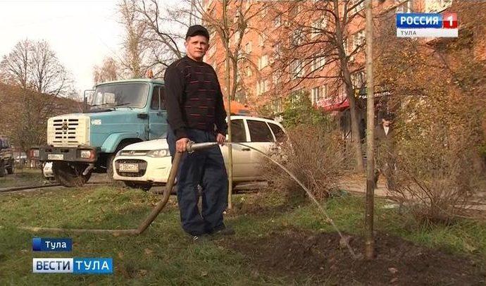 Погода решила, что в Туле пора завершить работы по озеленению
