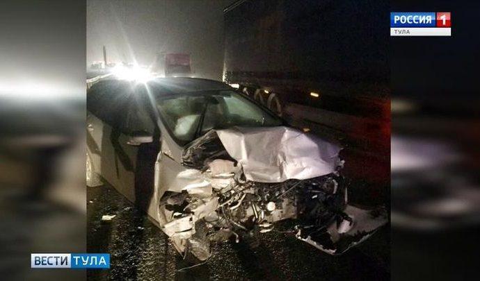 Пьяный водитель устроил ДТП на трассе под Тулой