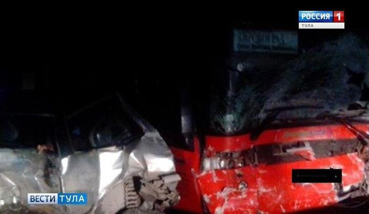 Под Тулой произошла массовая авария с участием рейсового автобуса