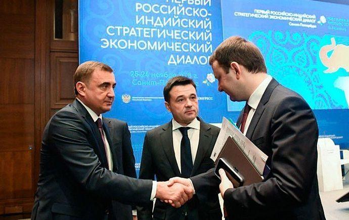 Алексей Дюмин вступил в Российско-Индийский стратегический диалог