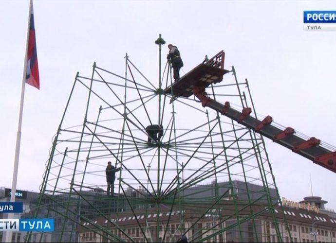 Ёлка на главной площади Тулы вырастет за неделю