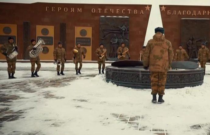 Тульские росгвардейцы на морозе спели «Катюшу»