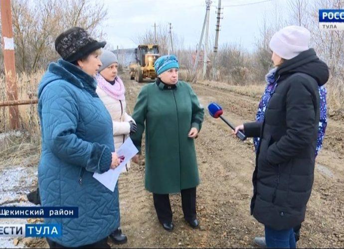 Строители тепличного комплекса разбили дорогу у посёлка Рудный