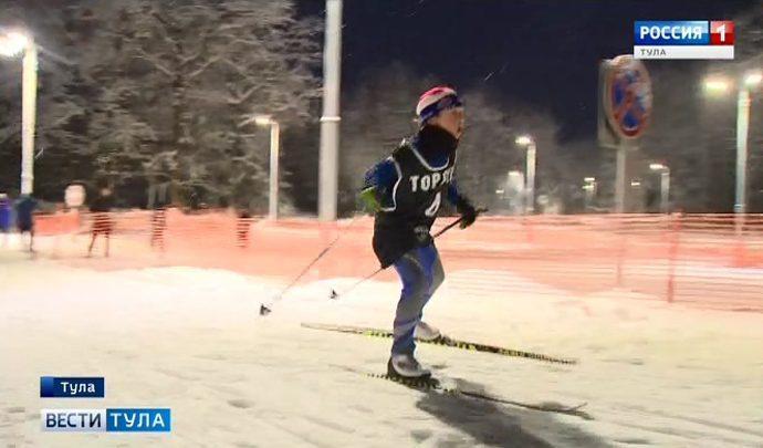 В новогодней столице России открыли лыжероллерную  трассу
