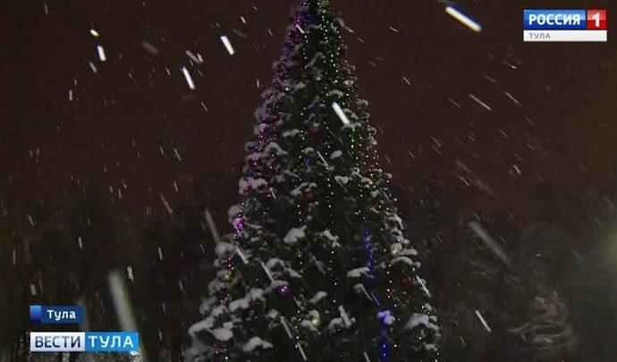 В Пролетарском округе Тулы открыли новогоднюю ёлку