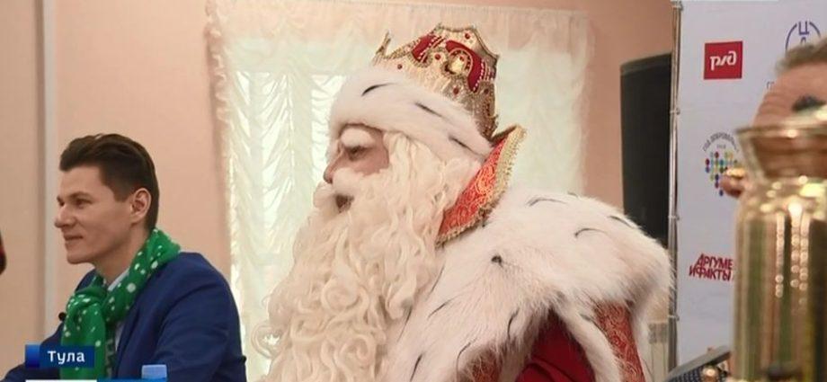 Юные туляки спросили Деда Мороза про маленького Путина