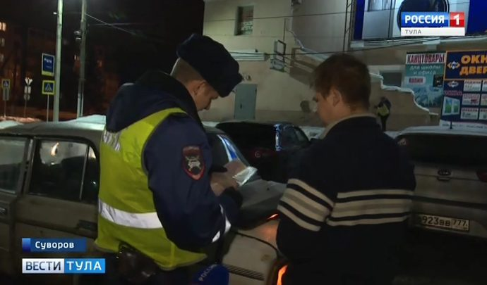 В Тульской области количество нетрезвых водителей не становится меньше