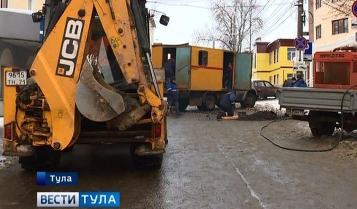 В Туле во время чистки снега повредили газопровод