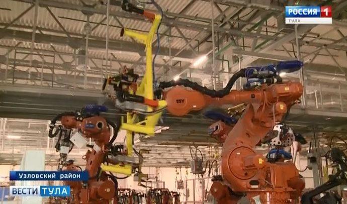 На автозаводе в Узловой «трудоустроили» роботов