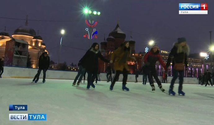 Сильный мороз не мешает тулякам предаваться зимним забавам