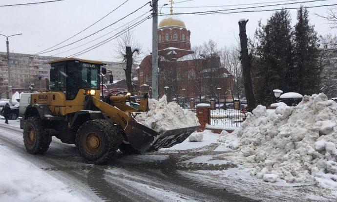Какие силы брошены на уборку снега в Туле?
