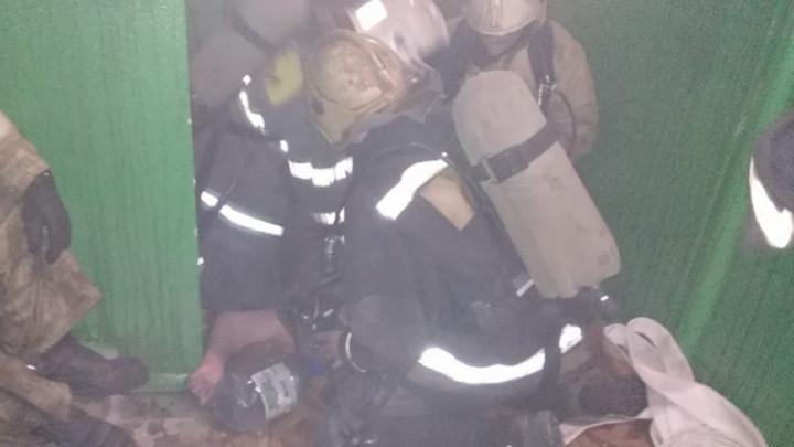 На Лейтейзена в Туле сгорел пожилой мужчина