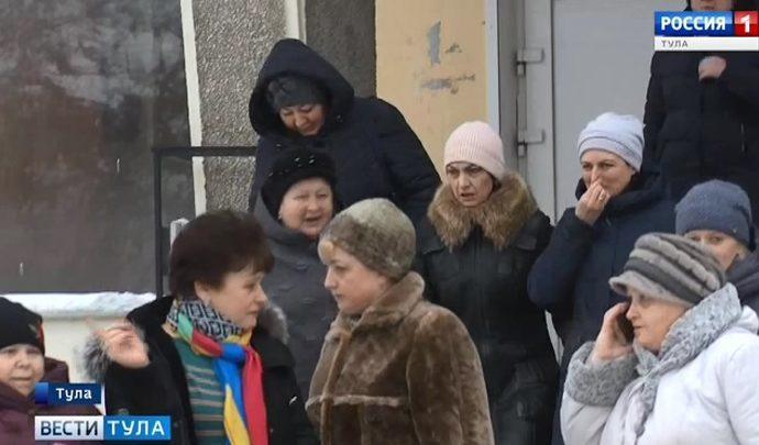 Эвакуация тульских школ и больниц. Новое видео