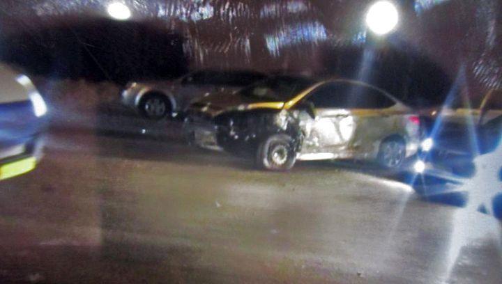 Автомобильный «бильярд» в Новомосковске закончился госпитализацией
