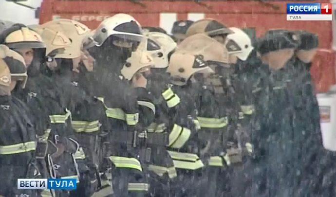 Боевую готовность тульских спасателей сегодня проверили