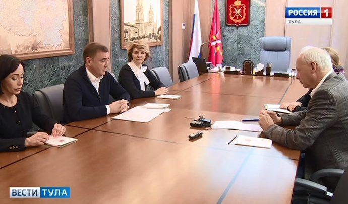 Алексей Дюмин провел рабочую встречу с заместителем министра связи и массовых коммуникаций РФ