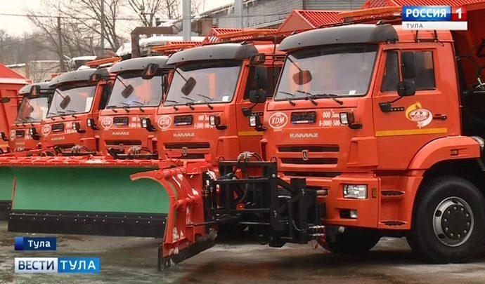 Дороги Тульской области будут обслуживать на 27 единиц техники больше!