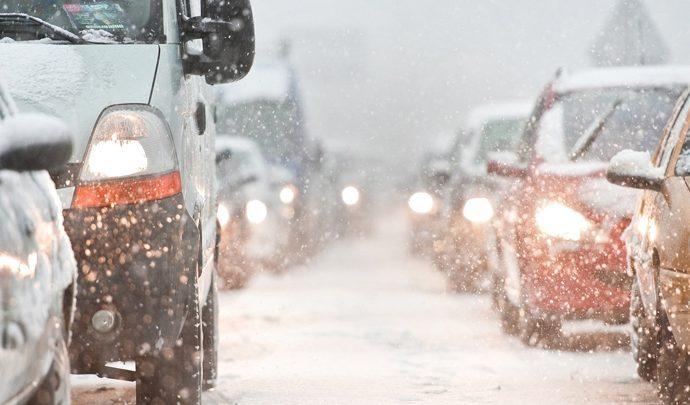 Из-за погодных условий водителям советуют избегать резких маневров