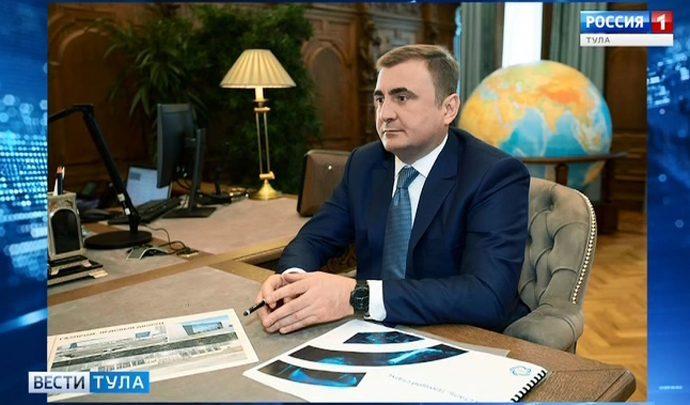 Алексей Дюмин провел рабочую встречу с руководителем «Газпрома»