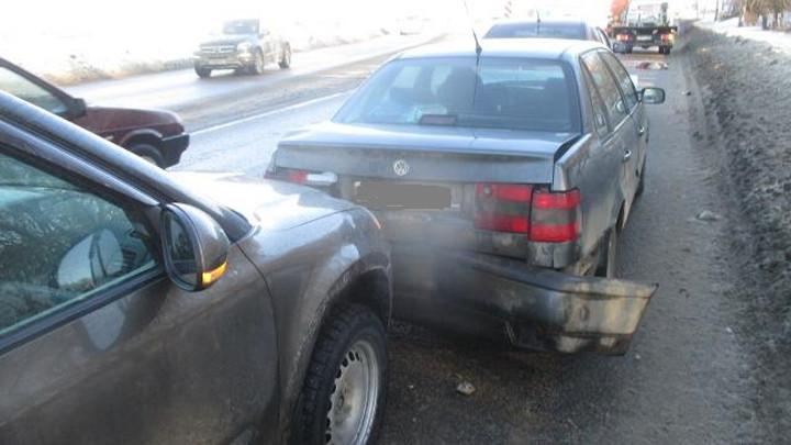 На Рязанской в Туле столкнулись три автомобиля