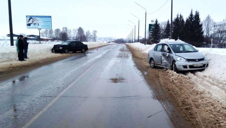 В Киреевском районе разворот на трассе закончился аварией