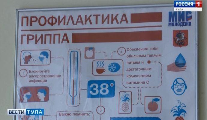 Как сильно превышен эпидпорог по гриппу в Тульской области?