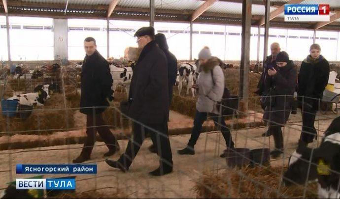Председатель Тульской облдумы оценил успехи одной из крупнейших ферм региона