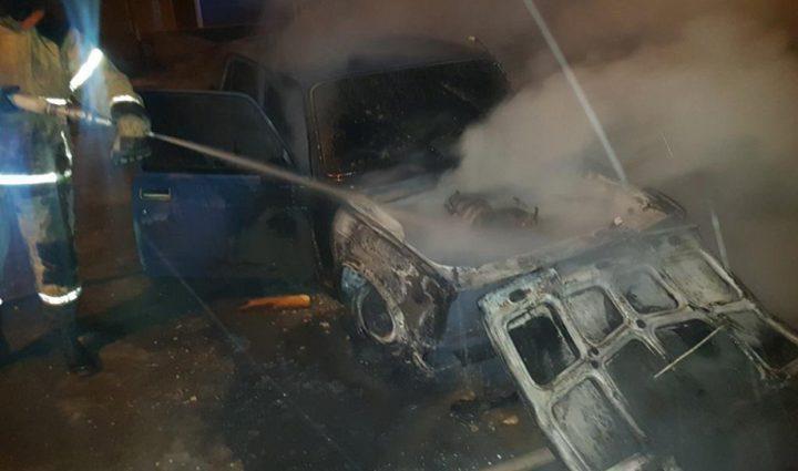 Утром в Скуратове сгорел ВАЗ