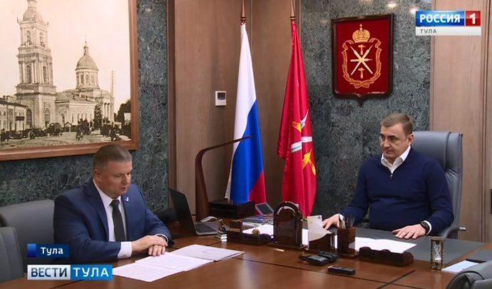 Алексей Дюмин встретился с руководителем исполкома регионального ОНФ