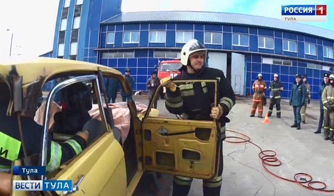 В Туле прошли соревнования спасателей