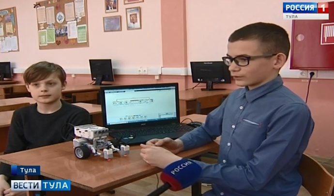 Тульских детей все больше увлекают роботы