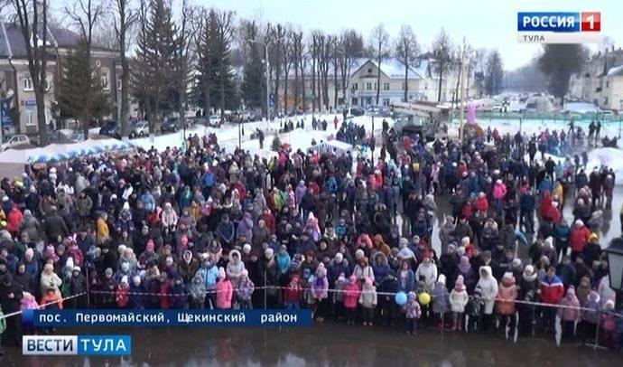 Жителей Первомайского бесплатно накормили блинами