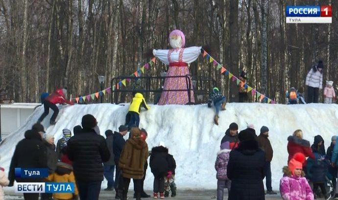 В Туле зиме устроили пышные проводы