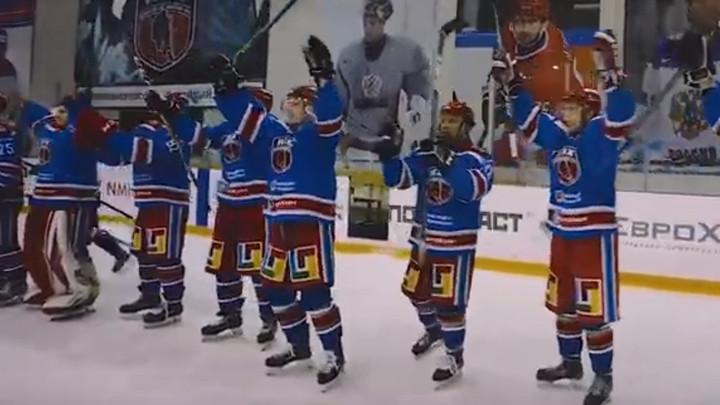 «Новомосковский хоккейный клуб» одержал победу на выезде