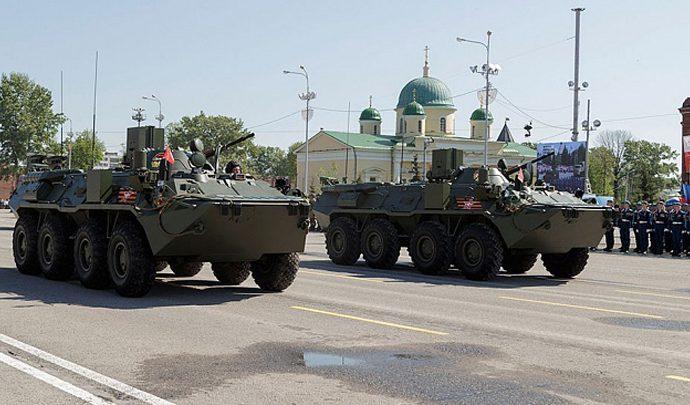 На улицы Тулы выйдет больше военной техники