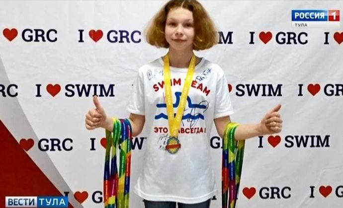 Юная чернская пловчиха привезла 8 медалей из республики Марий Эл