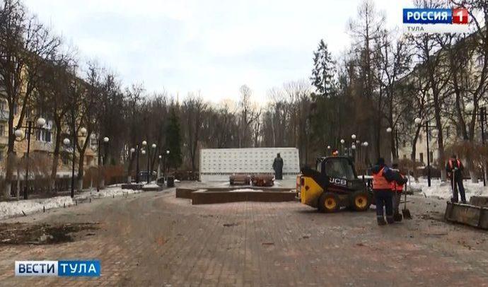 Какой срок отведён на реконструкцию сквера Героев в Туле?