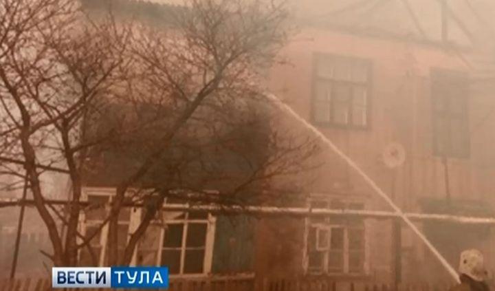 В Донском из-за горящей травы четыре семьи остались без крова